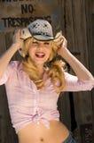 Mooi blonde model royalty-vrije stock foto's