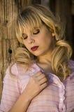 Mooi blonde model royalty-vrije stock fotografie