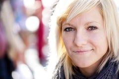 Mooi blonde portret Stock Afbeeldingen