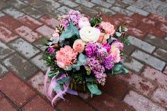 Mooi boeket van bloemen Royalty-vrije Stock Afbeeldingen