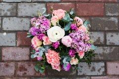 Mooi boeket van bloemen Stock Afbeeldingen