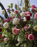 Mooi boeket van roze rozen royalty-vrije stock foto