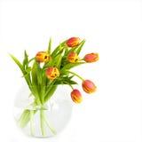 Mooi boeket van tulpen Stock Afbeeldingen