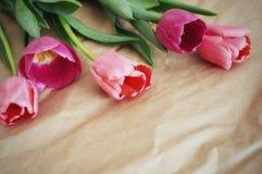 Mooi boeket van tulpen royalty-vrije stock afbeeldingen