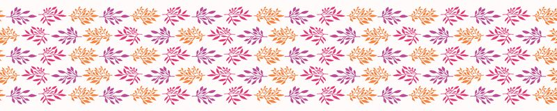 Mooi Boho-Blad Naadloos Vectorpatroon r royalty-vrije illustratie