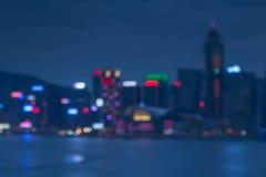 Mooi bokehlicht met waterreflextion Stock Foto's
