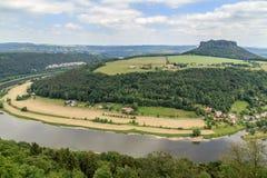 Mooi bos Saksisch Zwitserland Stock Foto