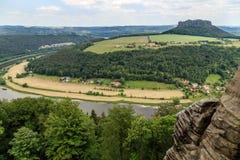 Mooi bos Saksisch Zwitserland Royalty-vrije Stock Foto