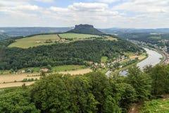 Mooi bos Saksisch Zwitserland Royalty-vrije Stock Fotografie