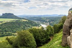 Mooi bos Saksisch Zwitserland Royalty-vrije Stock Foto's