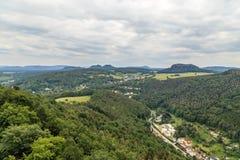 Mooi bos Saksisch Zwitserland Stock Afbeeldingen