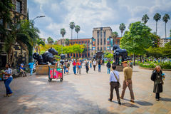 Mooi Botero-Plein in Medellin-stad, Colombia Royalty-vrije Stock Afbeeldingen
