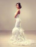 Mooi bruid modelbrunette Royalty-vrije Stock Afbeeldingen