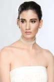 Mooi Bruidportret op haar Huwelijksdag Stock Afbeeldingen