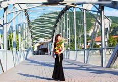 Mooi Bulgaars klein stads prom meisje stock afbeelding