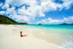 Mooi Caraïbisch strand Royalty-vrije Stock Foto's