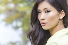 Mooi Chinees Aziatisch Jong Vrouwenmeisje Royalty-vrije Stock Foto