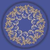 Mooi cirkelpatroon van bloemen stock illustratie