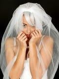 Mooi Coy Shy Young Bride Portrait Royalty-vrije Stock Foto's
