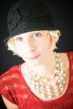 Mooi dameportret Royalty-vrije Stock Foto's