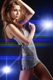 Mooi dansend meisje royalty-vrije stock foto