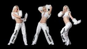 Mooi dansend meisje Stock Foto's