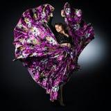 Mooi dansend meisje Royalty-vrije Stock Foto's