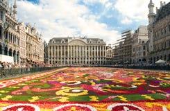 Mooi de bloemtapijt van Brussel Stock Fotografie