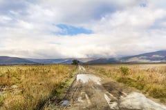 Mooi de herfst bewolkt landschap royalty-vrije stock foto's