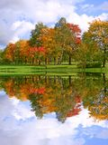Mooi de herfstlandschap Stock Foto