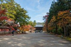 Mooi de herfstseizoen in tempel Jingo -jingo-ji Stock Fotografie