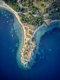 Mooi de hommelschot van de strand hoogste luchtmening stock foto