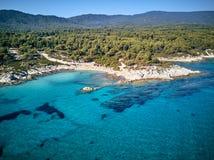 Mooi de hommelschot van de strand hoogste luchtmening stock foto's