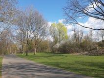 Mooi de lentelandschap met mooie hemel stock afbeeldingen