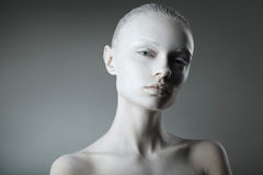 Mooi de studioportret van de meisjesmanier Royalty-vrije Stock Afbeeldingen