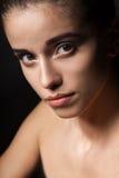 Mooi de vrouwenportret van de close-up Royalty-vrije Stock Afbeeldingen