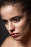 Mooi de vrouwenportret van de close-up Royalty-vrije Stock Foto