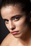 Mooi de vrouwenportret van de close-up Stock Foto