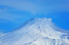 Mooi de winter vulkanisch landschap Stock Foto's