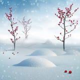 Mooi de winterbos royalty-vrije illustratie