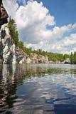 Mooi de zomerlandschap. Stock Foto