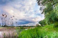 Mooi de zomerlandschap Royalty-vrije Stock Afbeeldingen