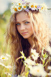 Mooi de zomermeisje Royalty-vrije Stock Foto's