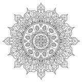 Mooi Deco Mandala Uitstekend Rond Ornament stock illustratie