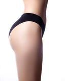 Mooi deel van vrouwelijk slank lichaam Een schoonheidsdeel van vrouwelijk lichaam De vorm van de vrouw met schone huid Stock Afbeeldingen