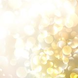 Mooi defocused gouden achtergrond. Royalty-vrije Stock Foto