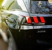 Mooi detail van Peugeot 3008 het voertuig van het oversteekplaatsnut Stock Afbeelding