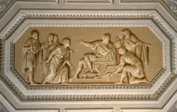 Plafond in het Museum van Vatikaan Stock Fotografie