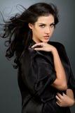 Mooi donker haarmeisje royalty-vrije stock foto