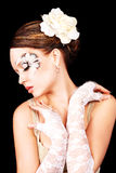 Mooi donkerbruin meisje Stock Afbeelding